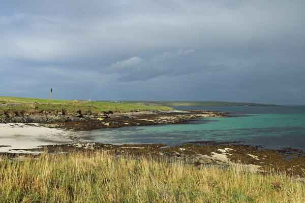 Beautiful beach of Westray, The Orkneys