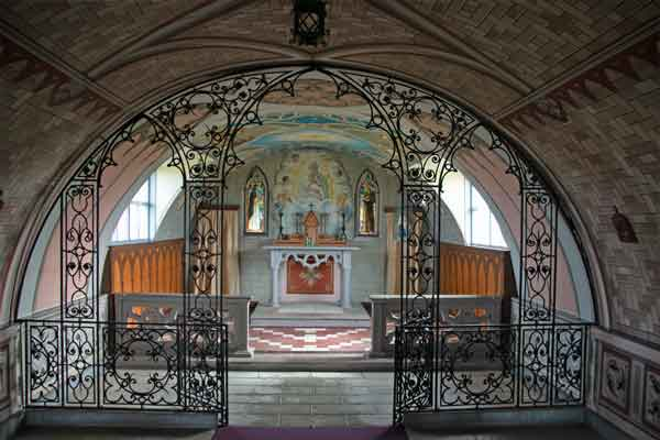 Work of art: the Italian Chapel's interior. on Mainland Orkney Isles.