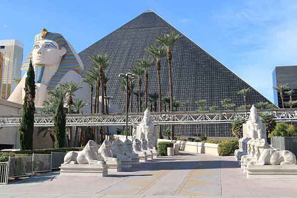 Las Vegas Celebrating Egyptian history: The Luxor.